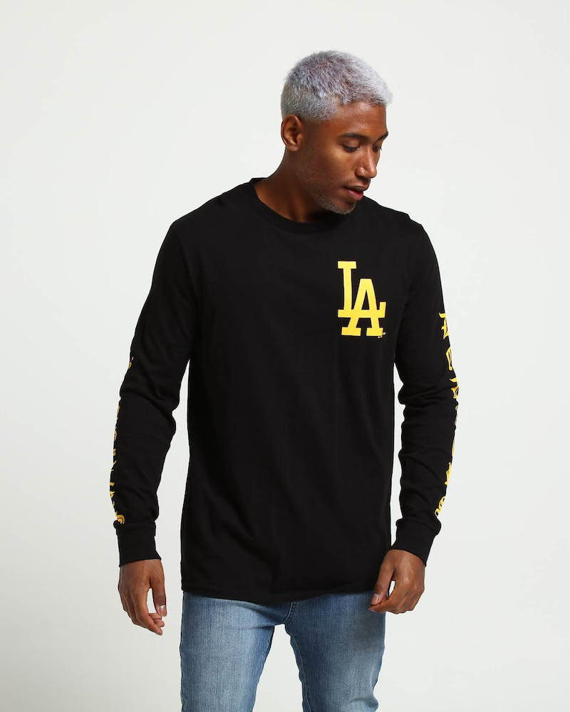 Majestic Athletic Los Angeles Dodgers Sulpher LS Tee Black/Yellow