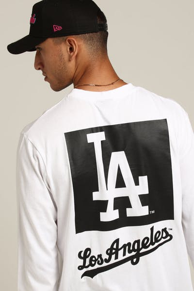 Majestic Athletic Los Angeles Dodgers Coldspring LS Tee White
