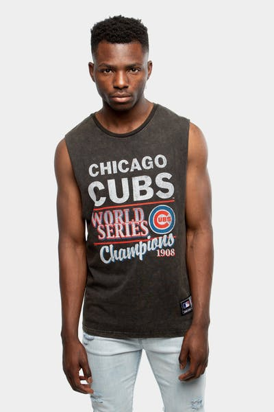 Majestic Athletic Chicago Cubs Whiteman Muscle Black