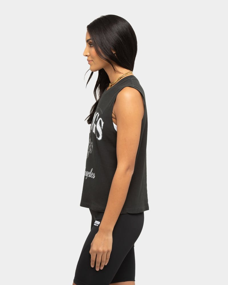 Majestic Athletic Women's Los Angeles Kings Vintage Gym Tank Black