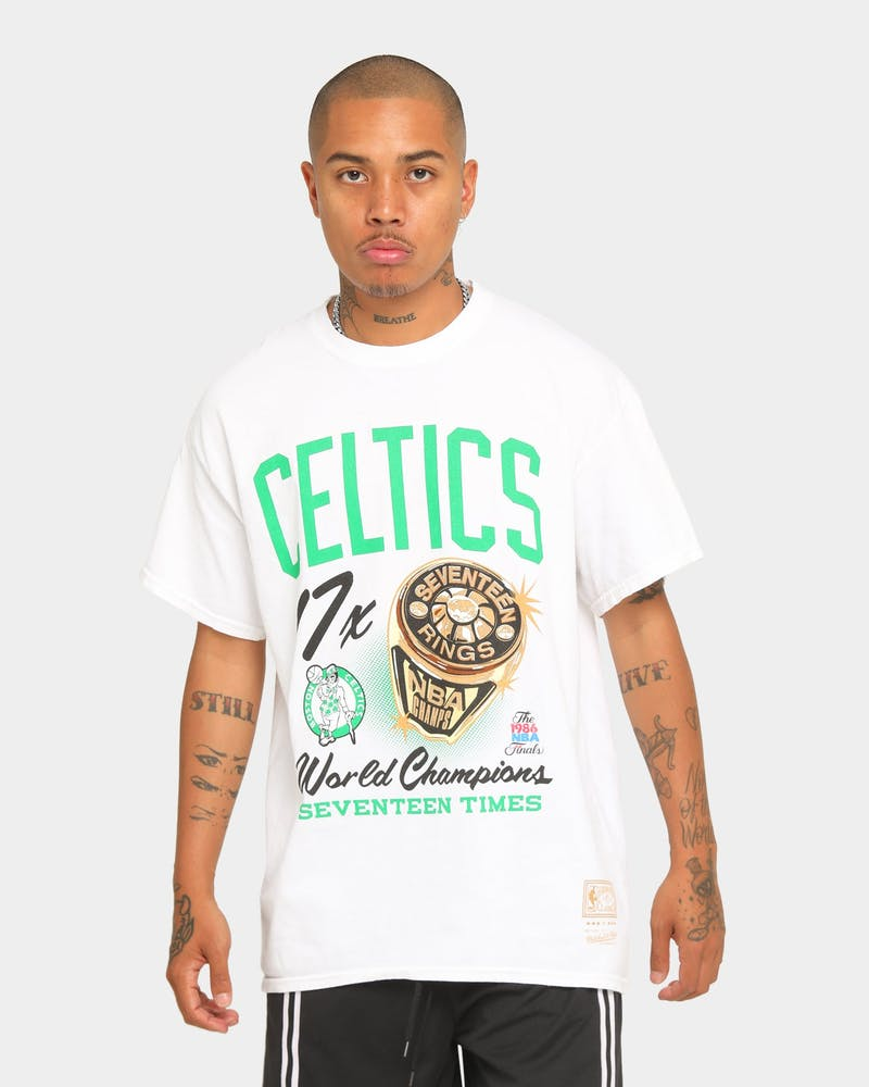 Mitchell & Ness Boston Celtics Bling Rings Vintage T-Shirt White