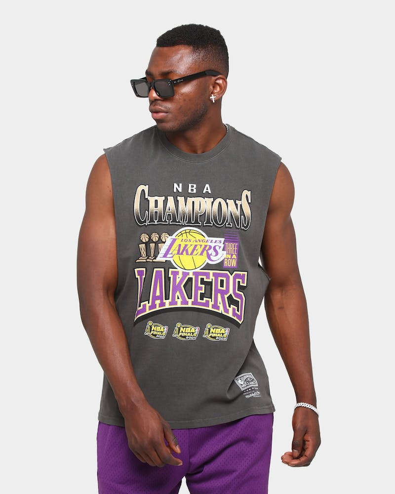Mitchell & Ness Los Angeles Lakers Vintage Champ Muscle Vintage Black