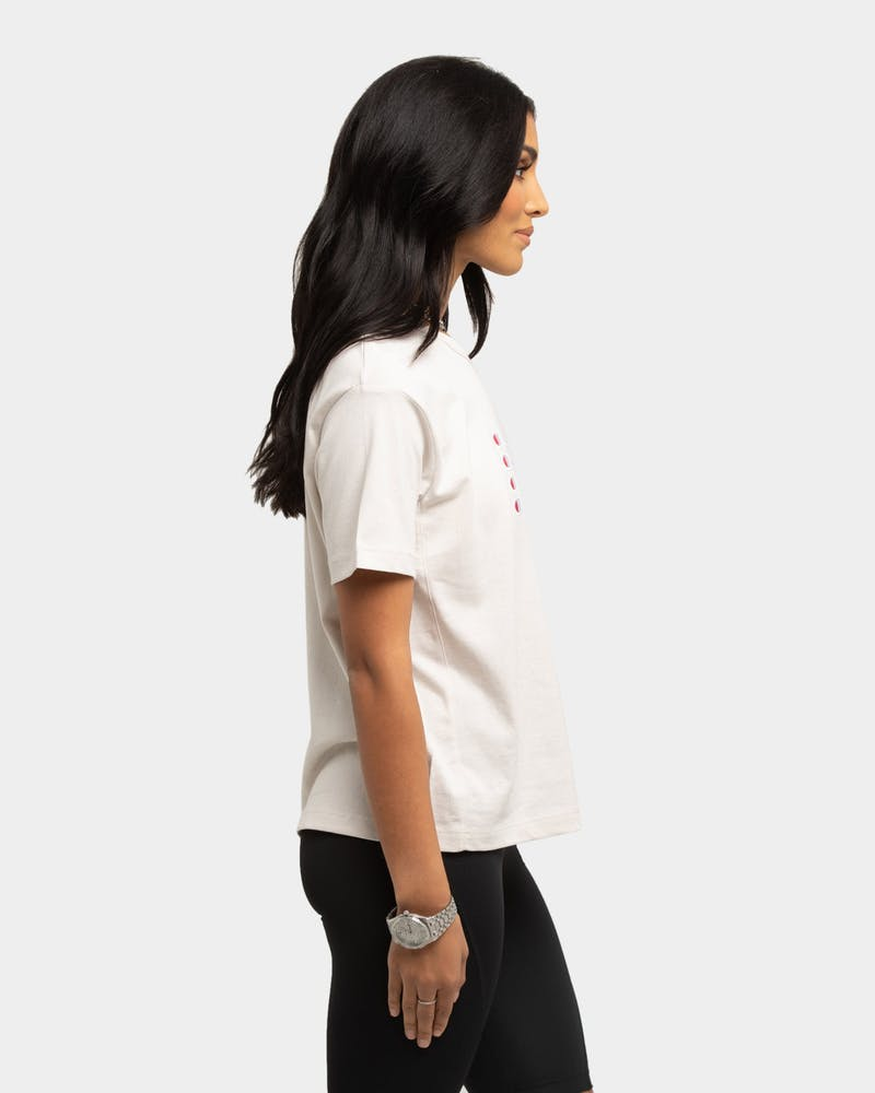 Champion Women's Heritage BF Graphic T-Shirt White Banksia