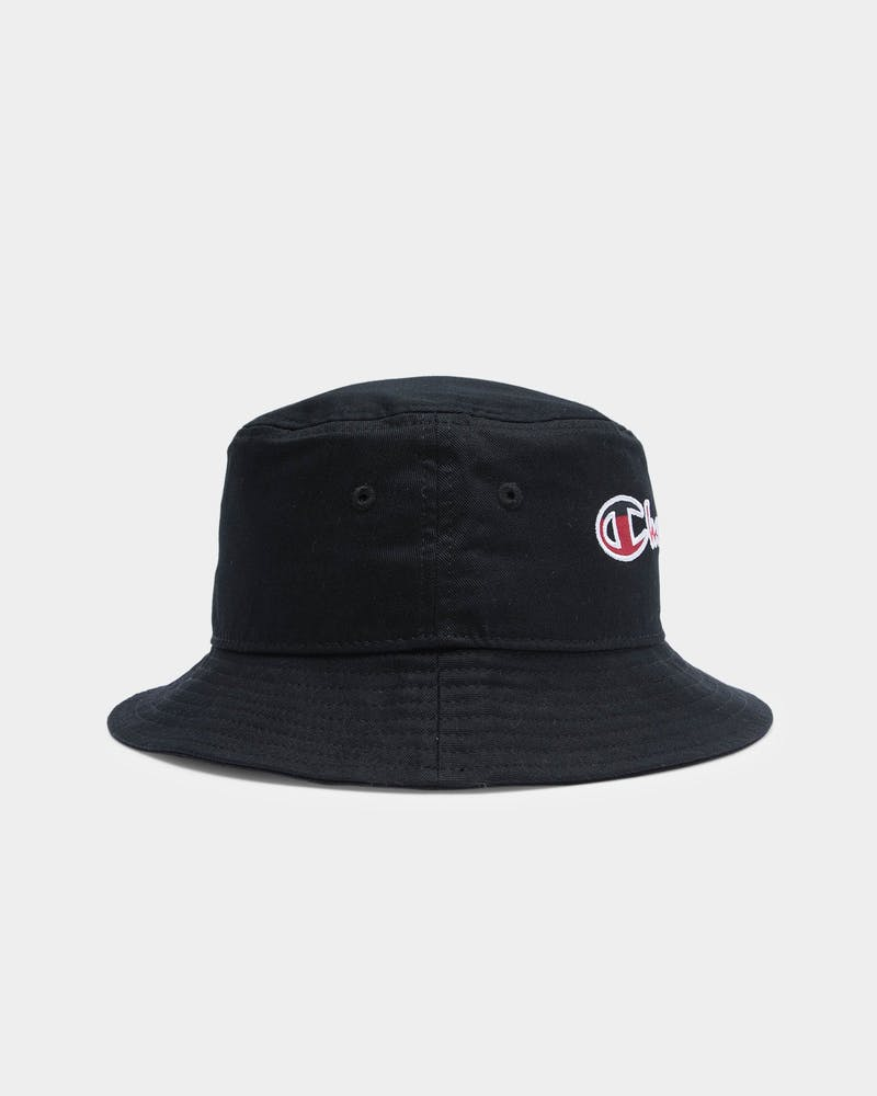 Men's Champion Script Bucket Hat Black