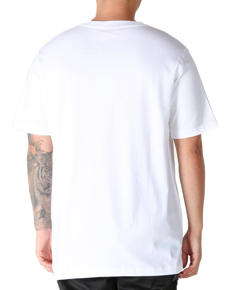 Lower QRS United Embroidery Tee White