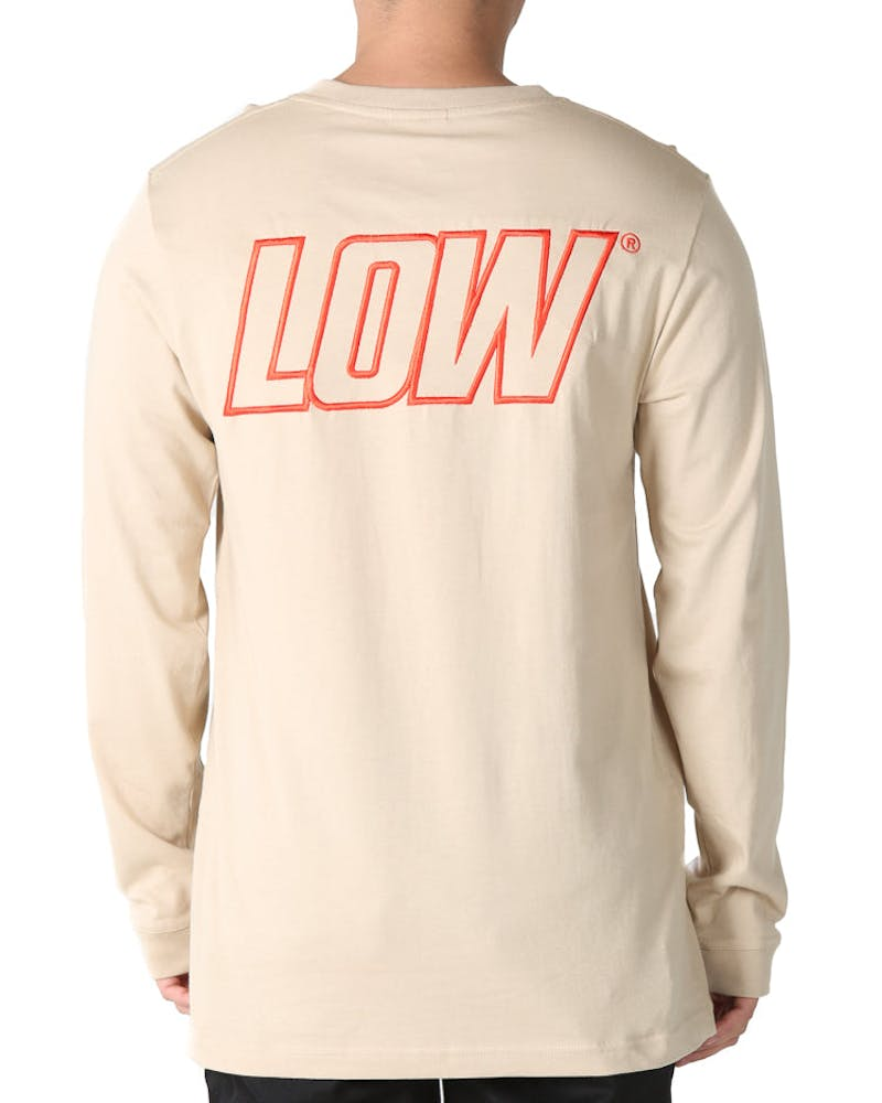 Lower QRS Lo Giants Embroidered Long Sleeve Tee Tan