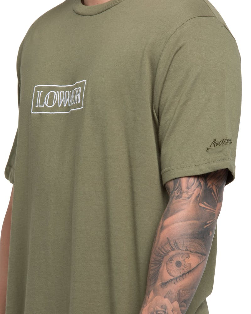 Lower QRS Maze Tee Olive