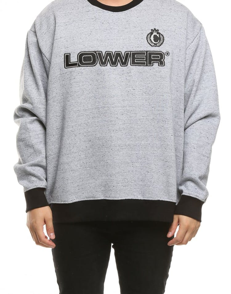 Lower X Culture Kings BD Gabber Embroidered Crew Grey/Black