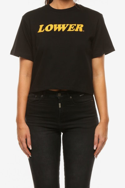 Lower Women's Cherry Ripe Crop Tee Black