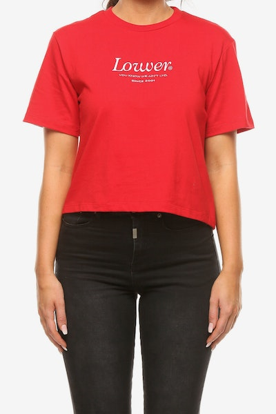 Lower Women's Crop Tee Jac Red