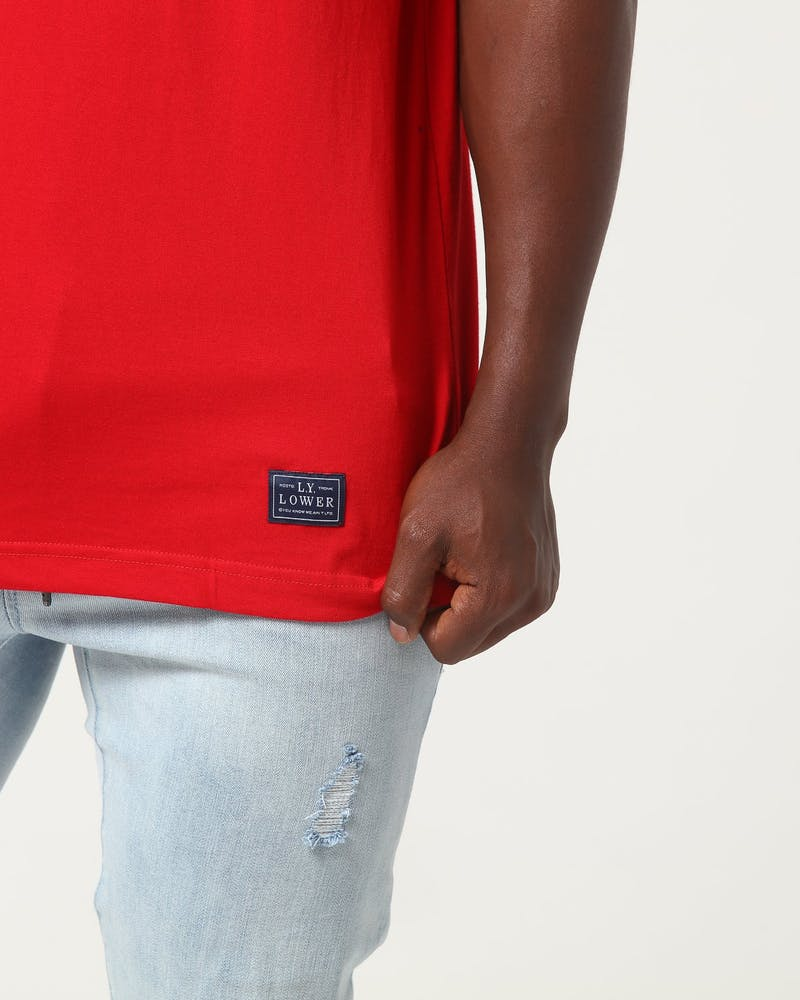Lower Two Tone Tee Cartel Navy/Red