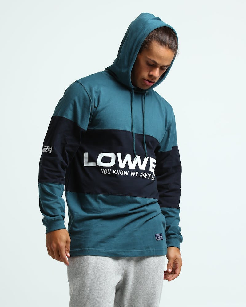Lower Irving Panel L/S Emerald/Navy/White