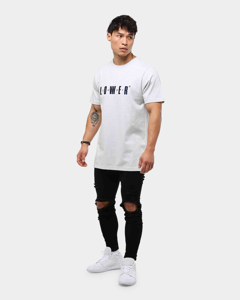 Lower Men's QRS Gaps Tee Silver Marle
