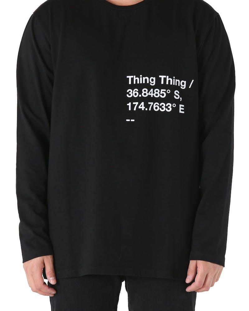 Thing Thing Plot Solid Long Sleeve Tee Black