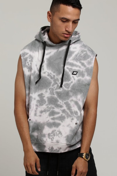 THING THING TANK HOOD Grey Tie-Dye