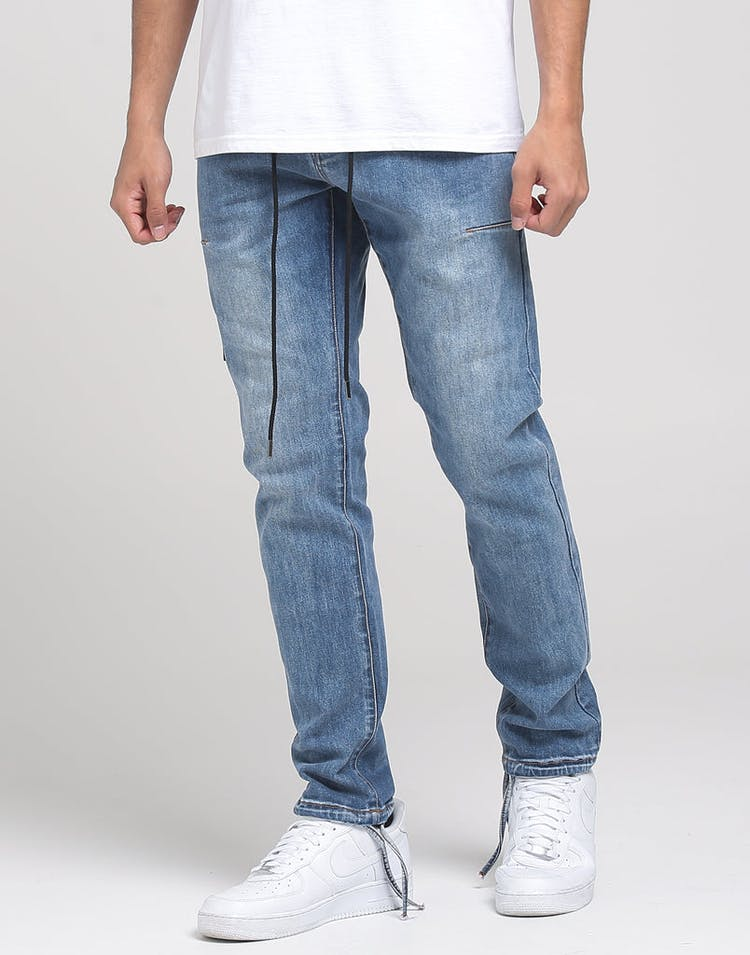 THING THING ALT LACED JEAN LIGHT BLUE WASH