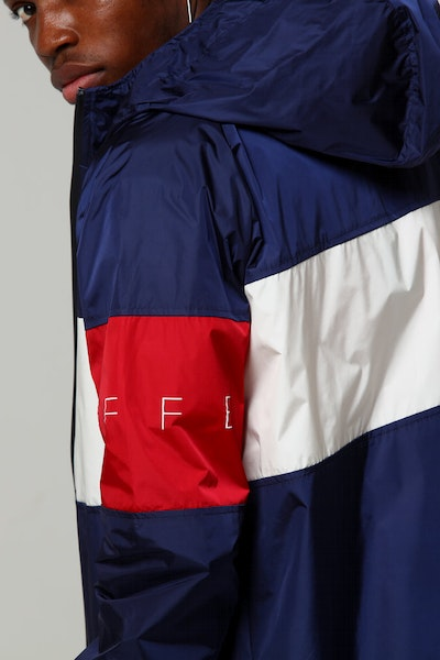 Huffer Track Shell Jacket Navy/Red