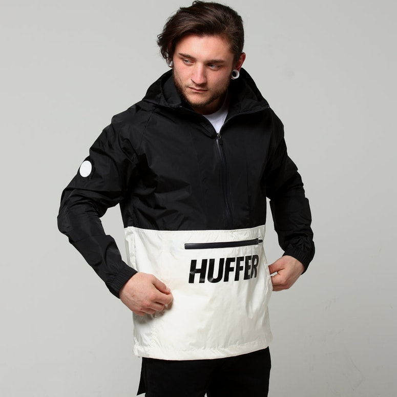 Huffer Spray Anorak Black