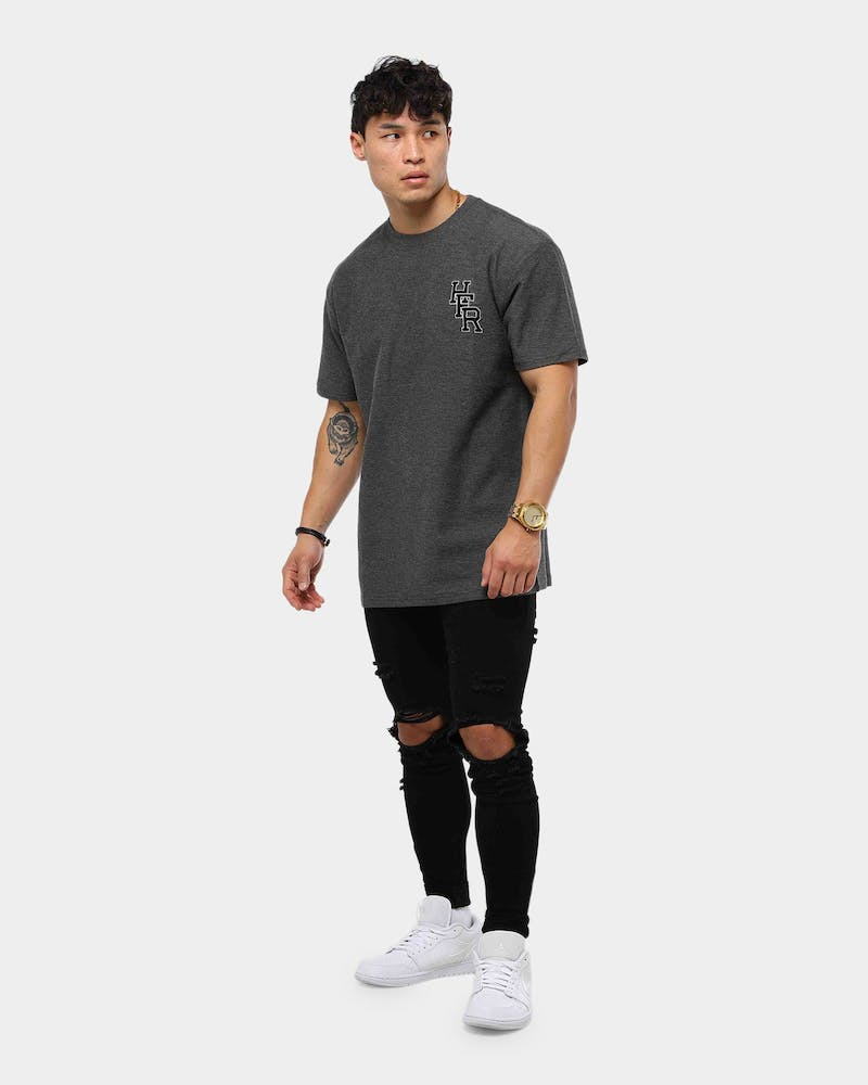 Huffer Dylan Tee Charcoal Marle