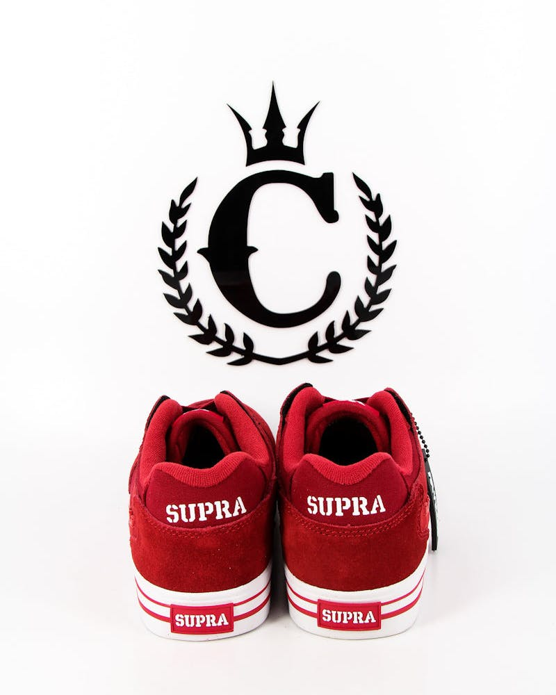 Supra Vaider Low Red/white
