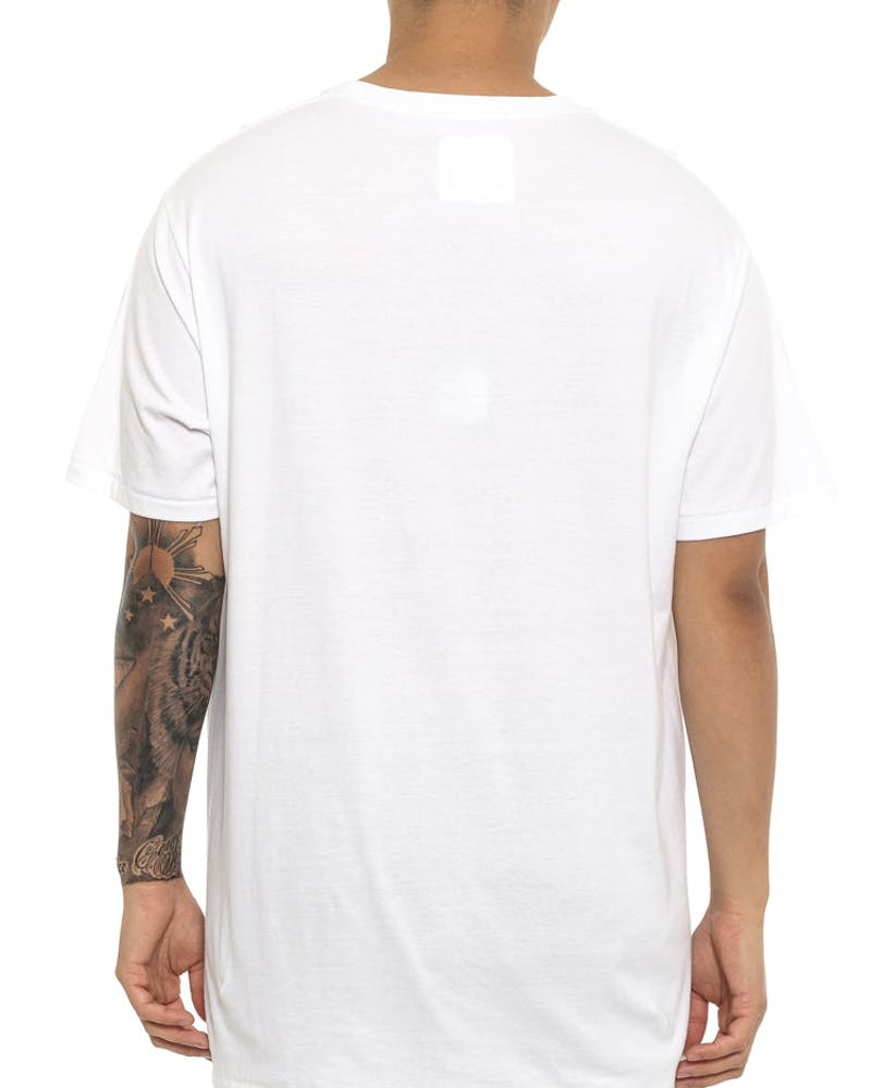 Big B. Schooled Tee White/black