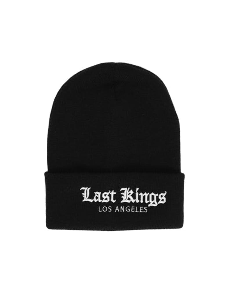 Old English Beanie Black