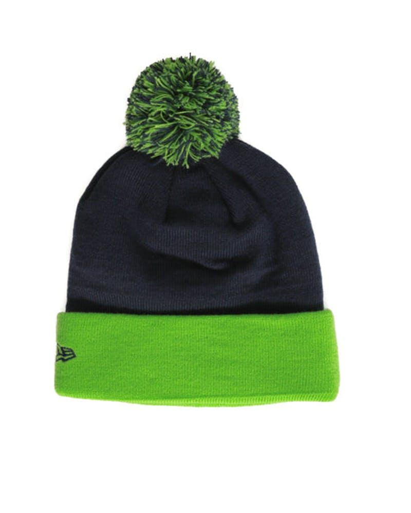 Seahawks Winter Fresh Beanie Navy/green/whit