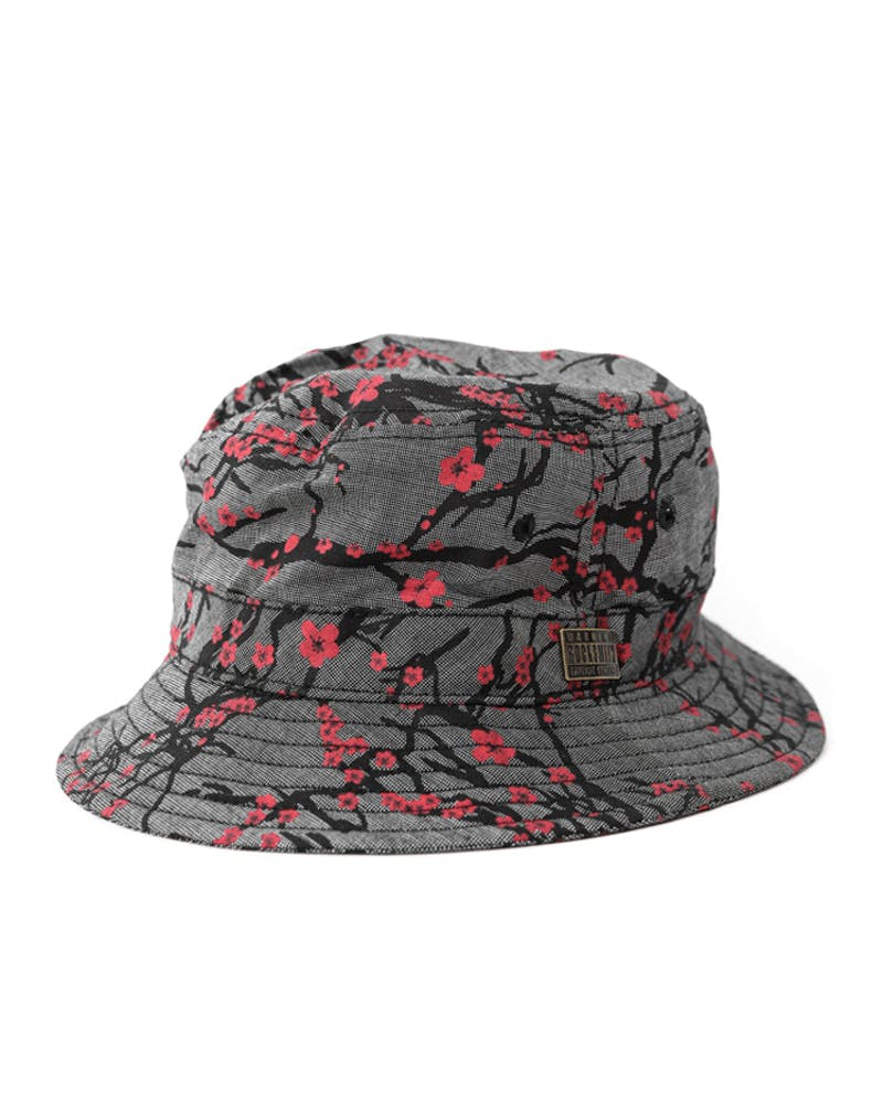 Sakura Bucket Hat Black