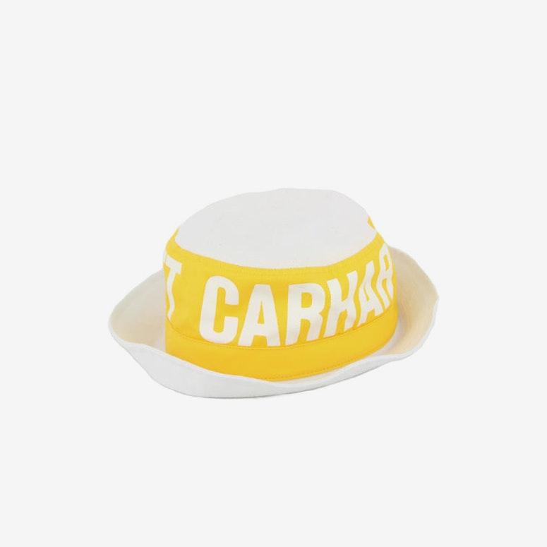 Shore Bucket Hat White/yellow