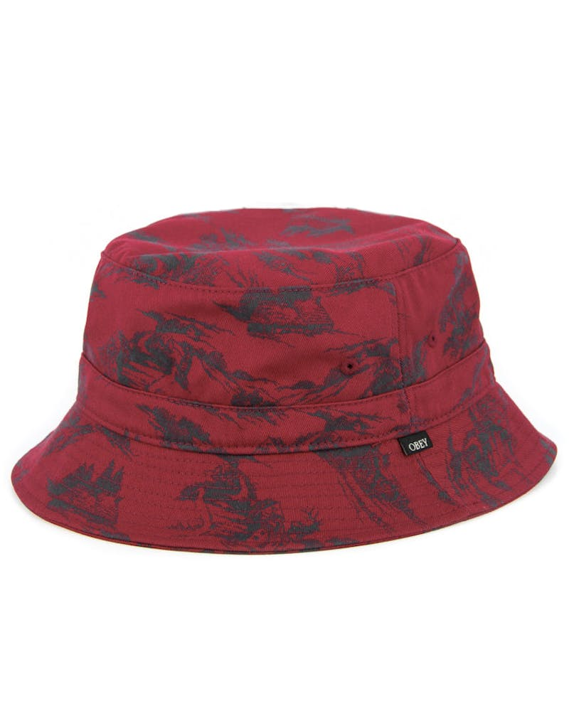 Ace Bucket Hat Burgundy