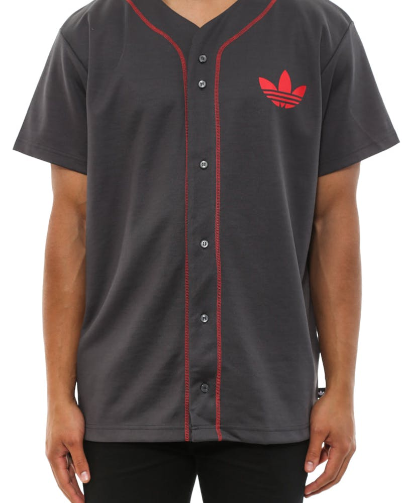 Chicago Bulls Jersey Charcoal/red