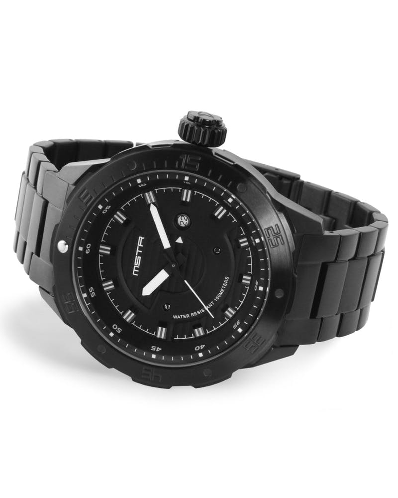 Diver One SS Band Black/white