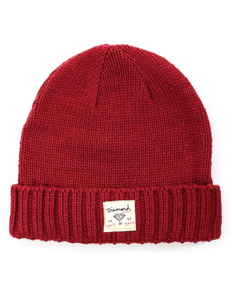 City Cuffed Beanie Burgundy