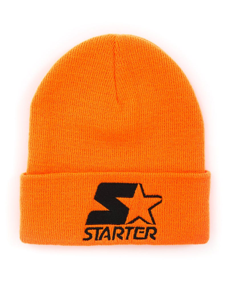 Cuffed Star Beanie Orange/black