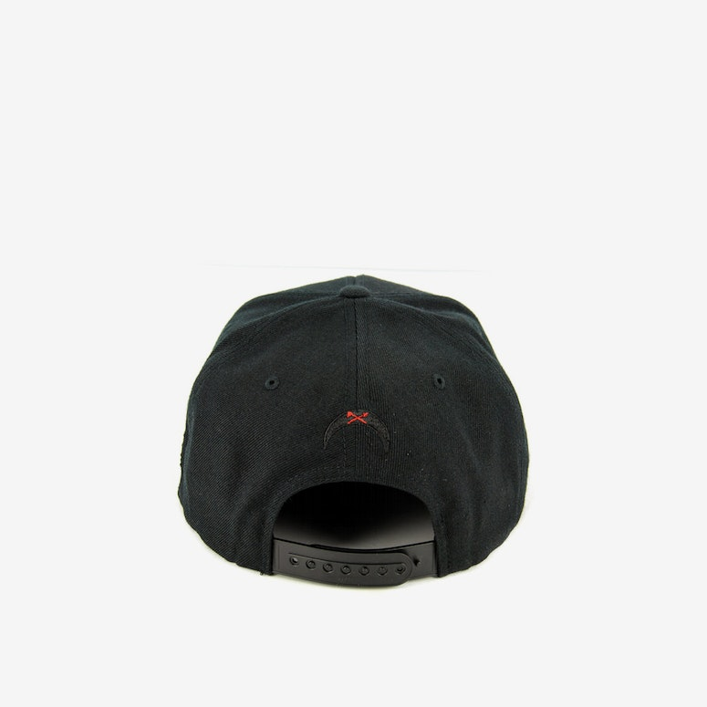 Rebel Flag Snapback Black