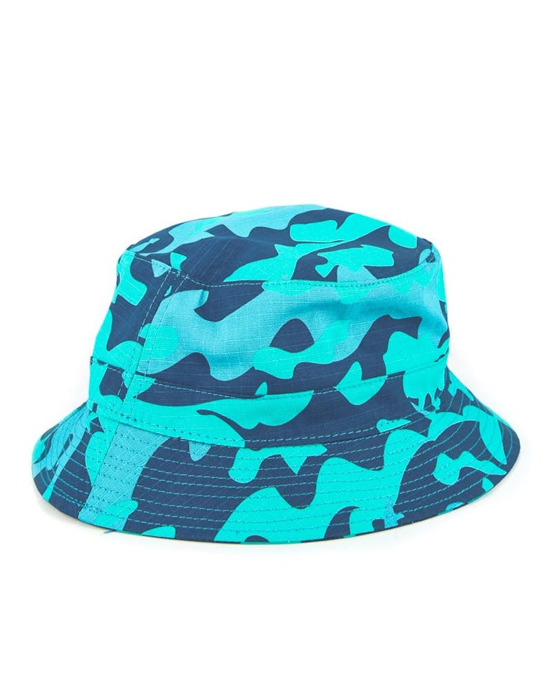 Camo Holiday 13 Bucket Blue