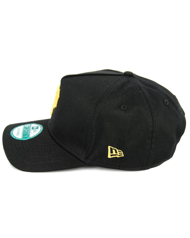 New Era Pirates 9FORTY A-Frame Strapback Black/yellow