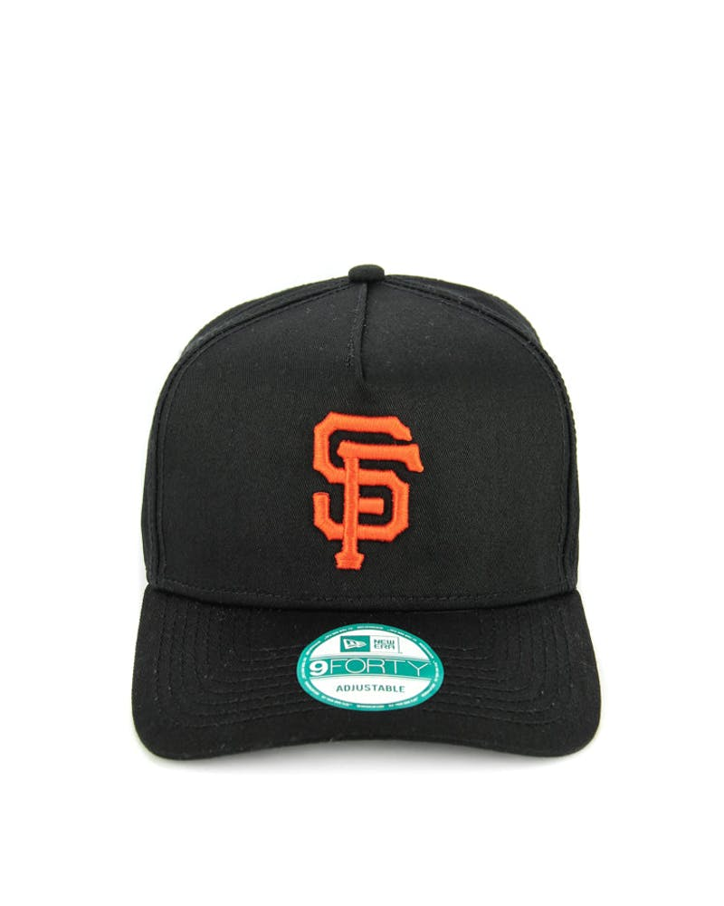 New Era Giants 9FORTY A-Frame Strapback Black/Orange