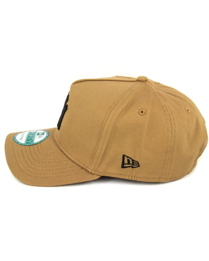 New Era Dodgers 9FORTY A-Frame Strapback Wheat/black