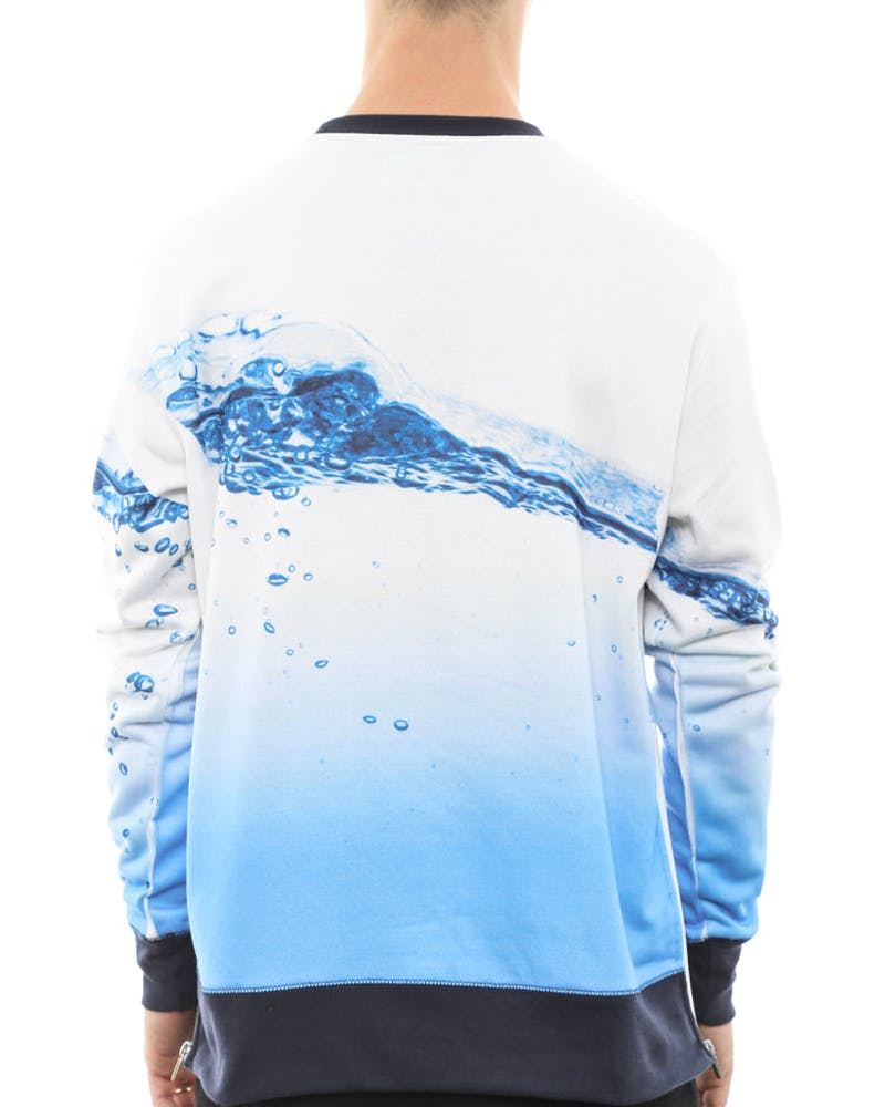 Wave Crewneck White