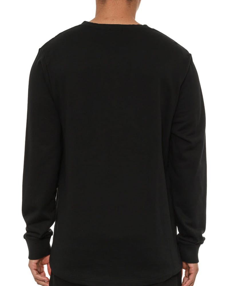 Paneled Sweater Black/black/cam
