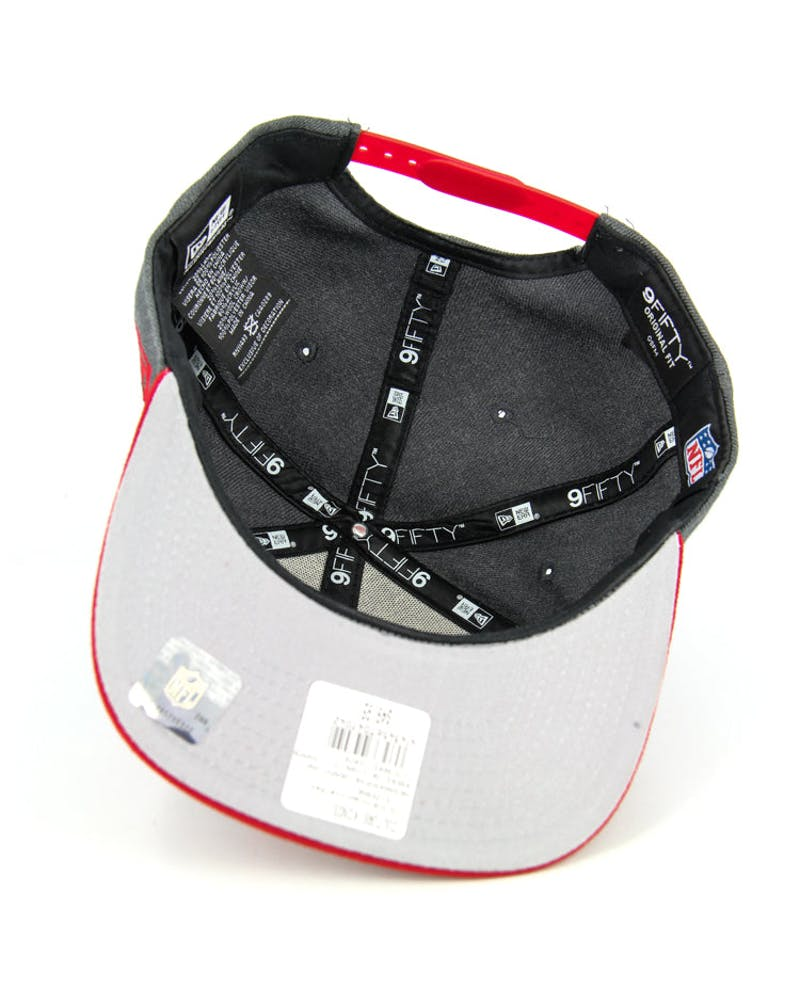 49ers Original Fit Snapback Graphite/red