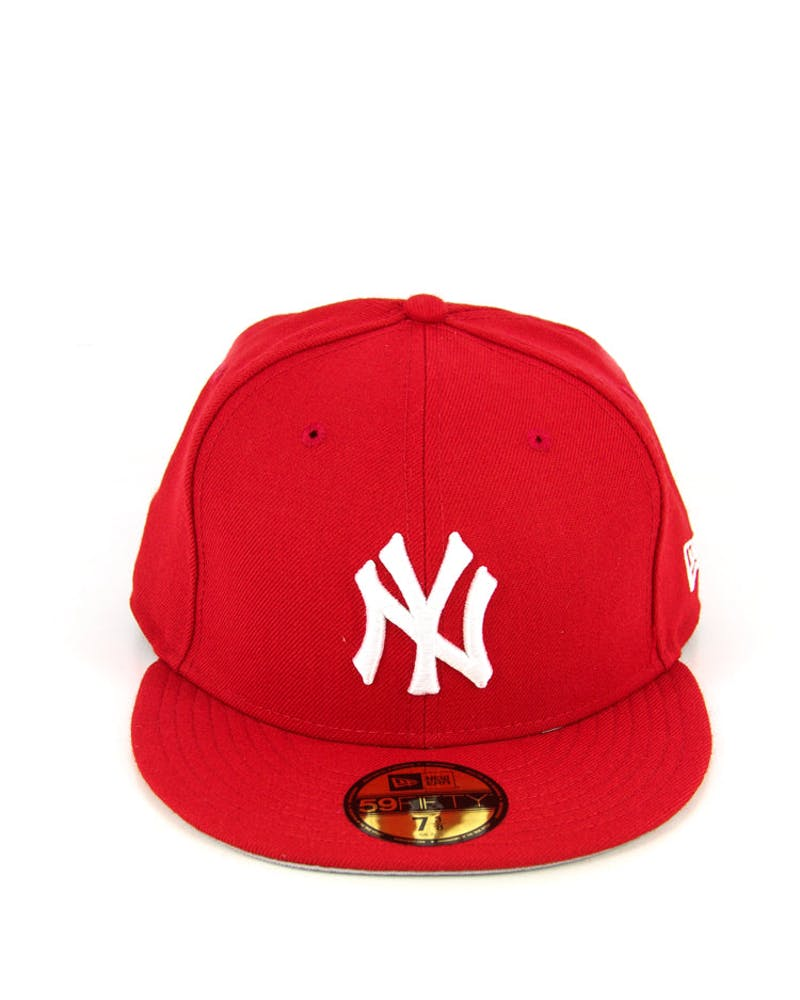 Yankees Fashion Fitted Scarlet/white/g