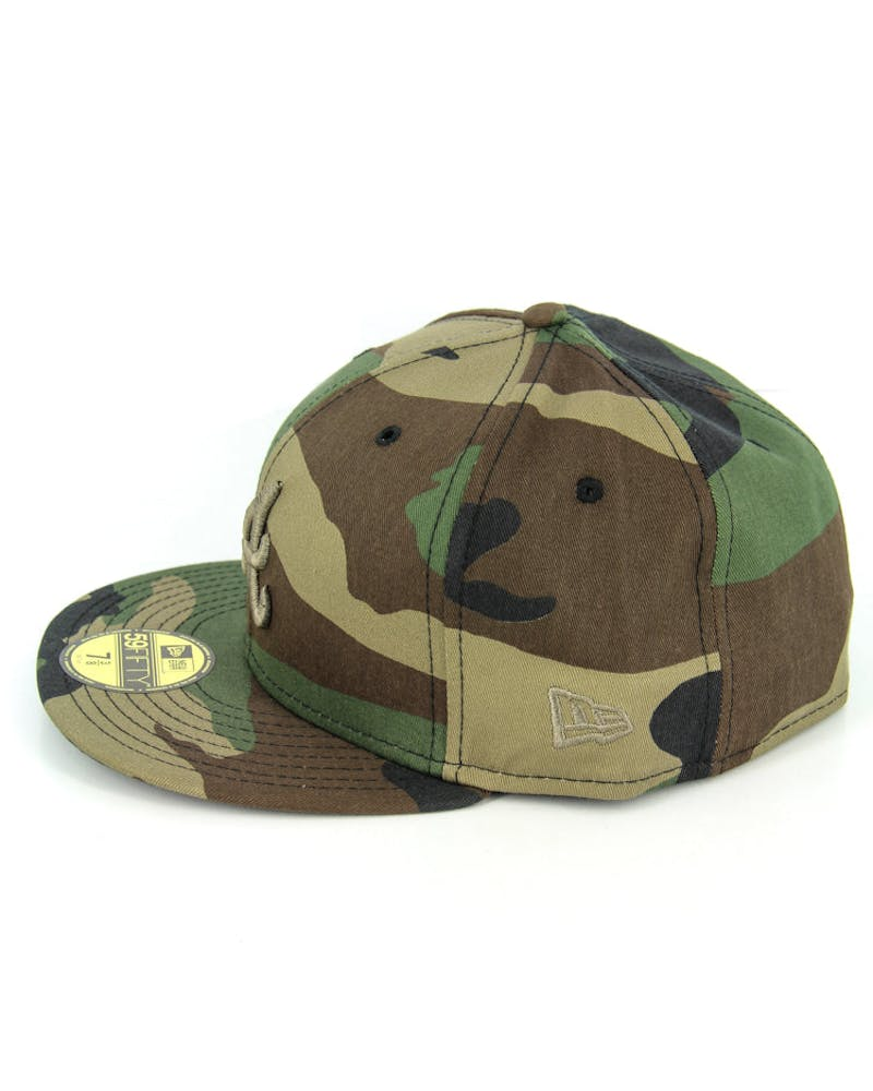 Braves Fashion Fitted Camo/gold