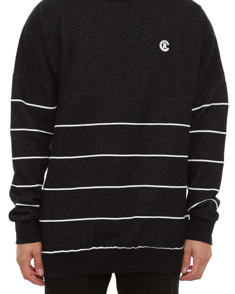 Captain Fleece Crew Black