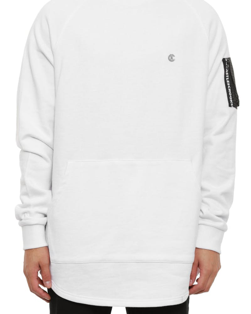 Bombay Fleece Crew White