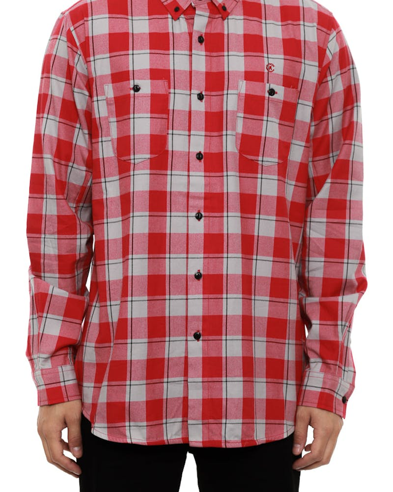 Daytona Core Long Sleeve Shirt Red