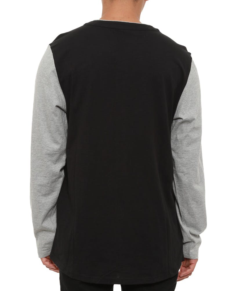 88 Baseball Jersey Long Sleeve Black/grey