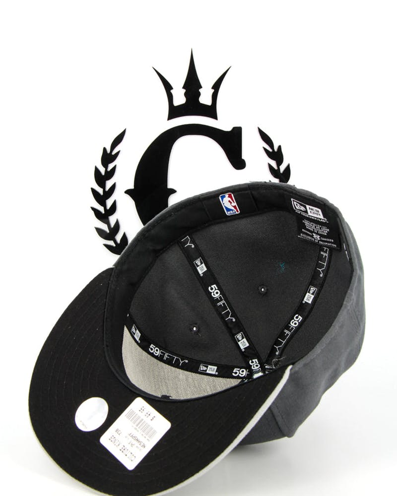 San Antonio Spurs Fashion Fitted Charcoal/grey