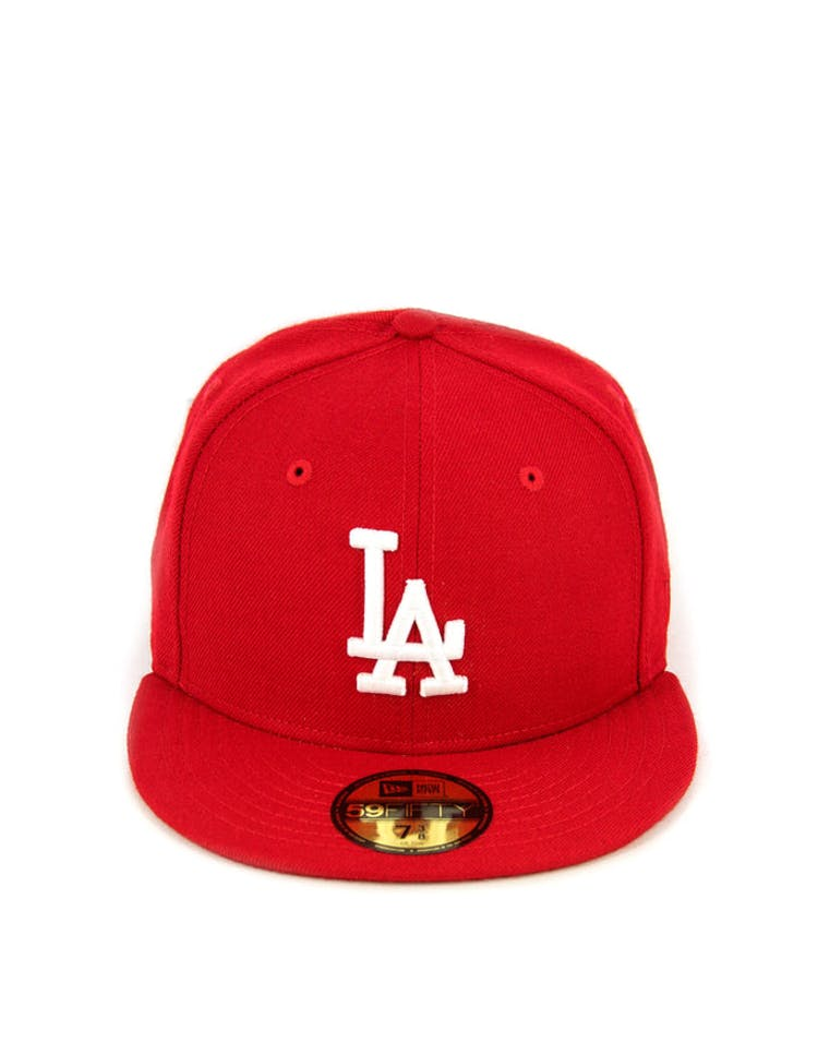 Dodgers Fashion Fitted Scarlet/white